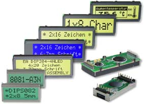 System LCD Displays monochrome für Text und Grafik