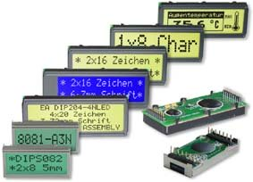Industrie LCD Displays monochrome für Text und Grafik