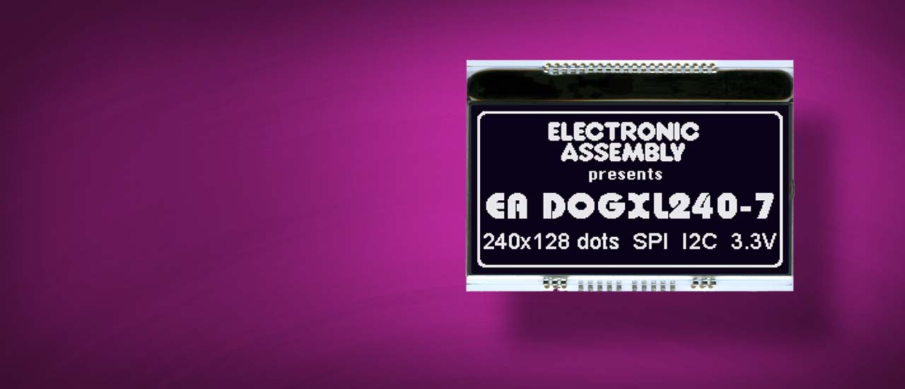 LCD Panel Grafik EA DOGXL240 als Chip-On-Glass