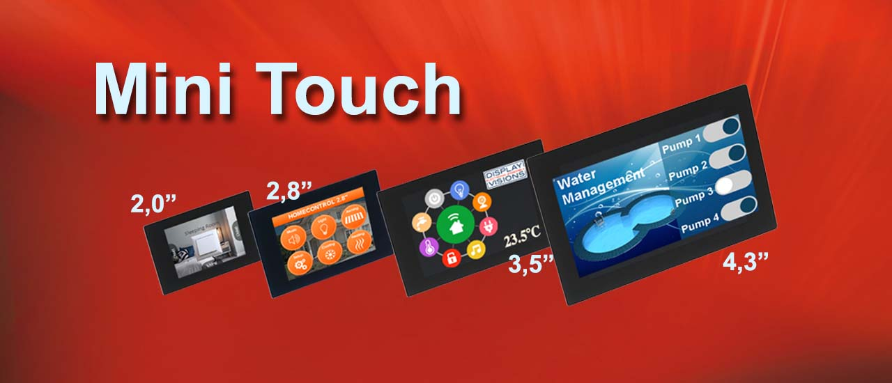 HMI Display als Mini Touch mit diversen I/Os, modern, innovativ und intelligent von Electronic Assembly